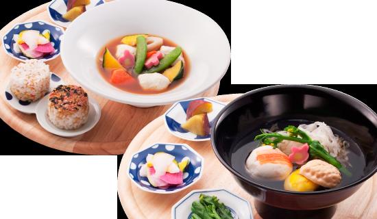 お好きなお椀とおむすび or 麺のセット