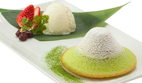 わらん富士のアイスクリーム添え